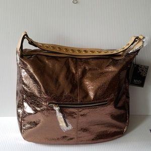 MMS bronze metallic tote bag